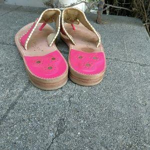 Jack Rogers Shoes - Jack Rogers Leather Flip Flop Sandals